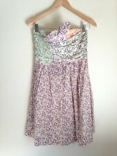 See By Chloe Women's Multi-Color Floral  Strapless Pocketed Dress Sz 2/US