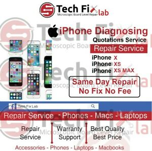 iPhone X / XS / XS MAX Fault Diagnosing and Quotations Repair Service