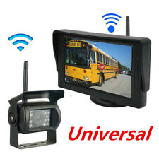 "Wireless 4.3"" LCD Monitor + Night Rear View Camera Bus Truck Parking System Kit"