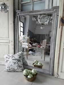 Großer antiker Spiegel, Kaminspiegel Frankreich, shabby