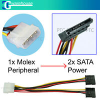 20cm 4Pin Molex (LP4) male to female SATA Power Splitter Y-Cable Adapter