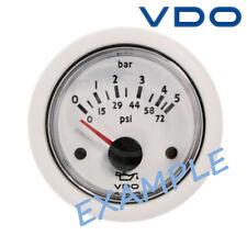 """VDO Ocean Line Oil Pressure Gauge Marine Boat 52mm 2"""" 5 bar Black N02-124-740"""