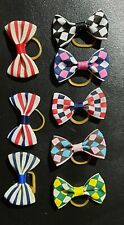 5 Small Dog Pet Puppy Cat Hair AccessoryBows RubberBands Grooming/From Australia