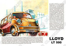 Lloyd LT 500 LT500 Kleinbus Kleintransporter Poster Plakat Bild Schild Art Print