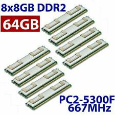 8x 8GB 64GB RAM 2Rx4 FB DIMM HP Proliant ML 350 G5 Fully Buffered DDR2 PC2-5300F