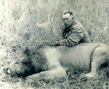 ANTIQUE AFRICAN LION HUNTING REPRINT 8X10 PHOTOGRAPH >> JACK O'CONNER
