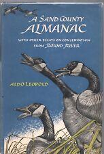 A SAND COUNTY ALMANAC by ALDO LEOPOLD OXFORD PRESS 1949 1966 1ST HC