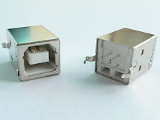 10x USB Jack, Type-B, female, straight PCB mount
