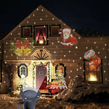 Outdoor Moving Laser Projector LED Lights Christmas Landscape Xmas Decor Lamp