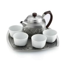 Royal Selangor Hand Finished 4 Gentlemen Collection Pewter Tea Set Gift