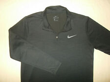 Nike Dri-Fit 1/4 Zip Long Sleeve Black Athletic Shirt Mens Large Excellent Cond.