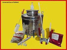 KIT BIRRA DI FERMENTAZIONE secchio in acciaio inox  30 lt completo di accessori