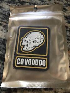 """2020 SHOT Show Las Vegas Voodoo Tactical Patch Skull """"Go Voodoo"""""""