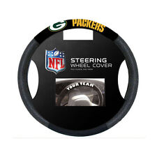 Brand New Green Bay Packers Poly-Suede & Mesh Car Truck Steering Wheel Cover