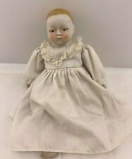"Vintage SHACKMAN ? Porcelain Bisque 10"" BABY DOLL Dress  Japan"