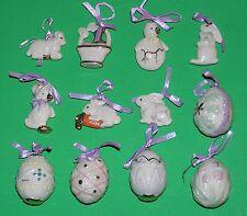 LENOX EASTER 12 miniature Tree Ornaments set NEW in BOX