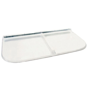 Window Well Cover 250 lb. Weight Capacity Clear Plastic Hardware 52 in. x 26 in.