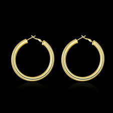 Women's Ladies 925 Sterling Silver Filled 2cm Round Hoop Earrings