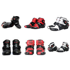 NEW Motorcycle Boots Street Bike Speed Black Red White US 8 9 9.5 10.5 11 12 13