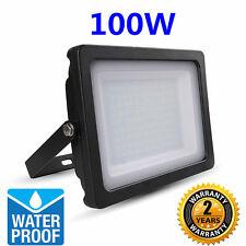 100W LED Luz De Inundación Seguridad Jardín Lámpara Fría Blanco 6500K Delgado Tipo