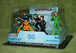 Funko HeroWorld DC NIGHTWING BANE RIDDLER ROBIN CATWOMAN 5 Figure Set Target