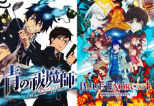 Blue Exorcist (37 Eps + Movie) + Kyoto Saga (12 Eps) ~4-DVD~ English Dub Version