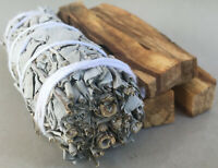 1 White Sage Smudge Stick & 4 Palo Santo Sticks | Smudge Kit Refill