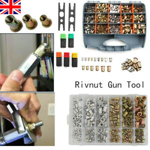 Pro Hand Nut Tool 900pcs Riveter Rivnut Gun Kit Mandrels Rivet Repair Set M3-M12
