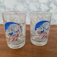 Set of 2 Walt Disney World Remember The Magic 25th Anniversary Fantasia Glasses