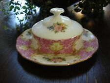 ROYAL ALBERT LADY CARLYLE  ROUND BUTTER DISH