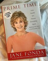 Jane Fonda PRIME TIME Signed First Edit 1st Print Successful Late Life Living