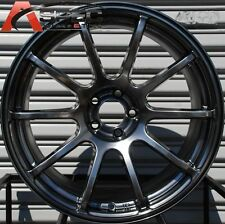 18X9 ROTA G FORCE WHEELS 5X114.3 HYPER BLACK RIMS FITS RSX 350Z STI SUPRA