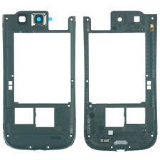 Samsung Galaxy S3 i9300 Mittel Gehäuse Cover Rahmen Kamera Glas, blau