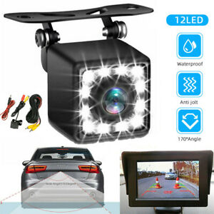 12 LED 170° Car Rear View Reverse Backup Parking Camera Night Vision Waterproof