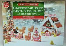 Easy to Build Gingerbread House,Santa,Sleigh & Tree Kit Cookie Kit 1.67kg 05/20