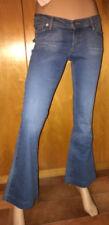 Jeans da donna stile a campana, larghi basso in denim
