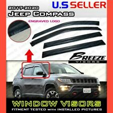 for 17 18 19 20 Jeep Compass / WINDOW VISORS DEFLECTOR RAIN GUARD VENT SHADE