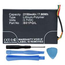 2150mAh B01PQIL Battery for Barnes & Noble Nook Glowlight BNRV500 eReader