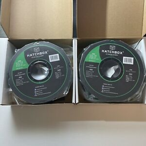 2 Hatchbox ABS 1.75mm 3D Printer Filament 1 Kg Spool True Green