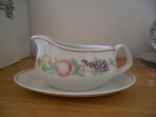BOOTS ORCHARD GRAVY BOAT AND STAND - STYLE 1