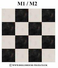"""Casa De Muñecas Miniaturas, suelos, en miniatura azulejos de piso 1 """"Sq.. SF1. m1/m2 Azulejos"""