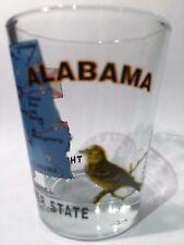 ALABAMA THE YELLOWHAMMER STATE ALL-AMERICAN COLLECTION SHOT GLASS SHOTGLASS