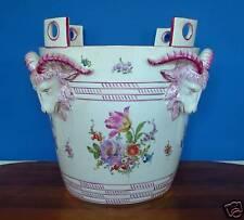 LUDWIGSBURG JARDINIERE Porcelain Monumental Milk Bucket - Height 14.8 In. 19th C