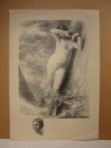 Henri Fantin-Latour c.1900 female nude lithograph French artist France