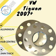 VW Tiguan 2007 onwards Alloy Hubcentric 5mm Wheel Spacers 5x112 57.1 1 Pair