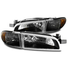 FOR 97-03 PONTIAC GRAND PRIX REPLACEMENT HEADLIGHTS W/CORNER SIGNAL LIGHTS BLACK