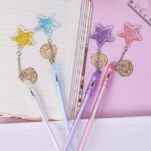 Kawaii Star Sequin Pendant Gel Pen Black Ink Ballpoint Pens School Stationery