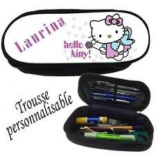 Trousse à crayons HELLO KITTY personnalisée avec prénom V1