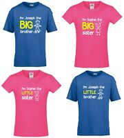 Personalised I'm The Big/Little Brother/Sister Boys & Girls T-Shirts Customised