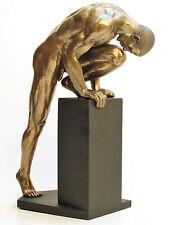 Erotische Figur Männerakt Figur mit Kalt Bronze überzogen Akt Mann - 20197